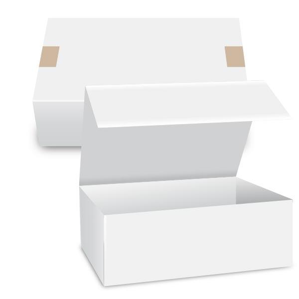 Caja embalaje prisma rectangular