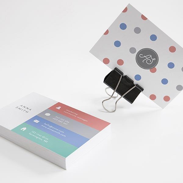 impresión de tarjetas de visitas